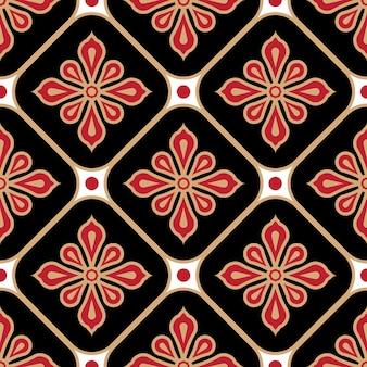꽃 원활한 바틱 패턴