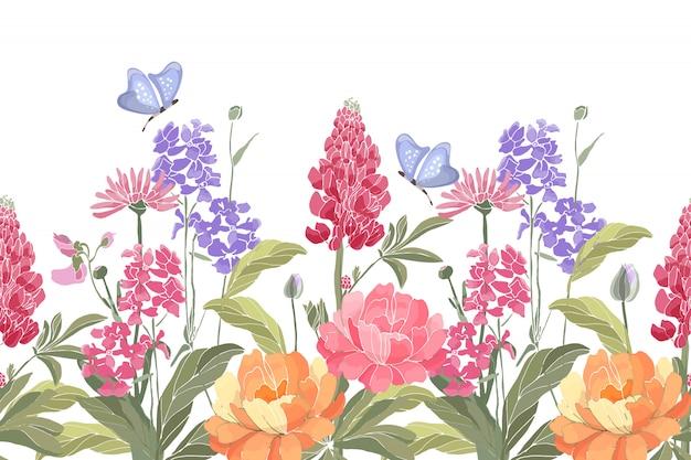 花のシームレスな境界線。