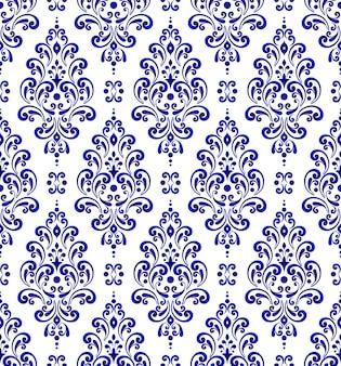 花のシームレスなダマスクパターン