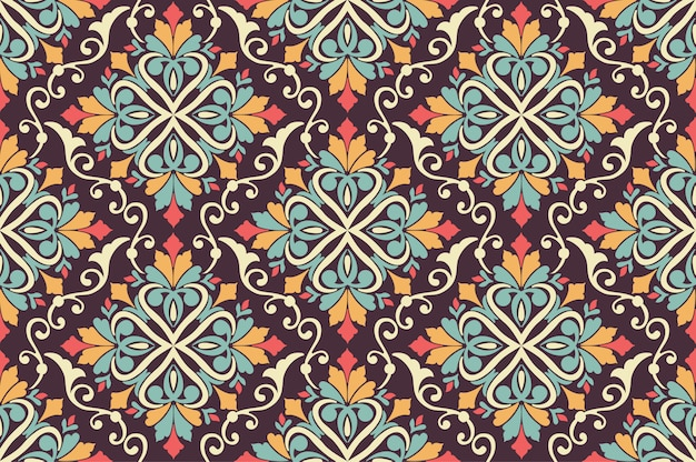 Floral seamless pattern background in arabian style. arabesque pattern. eastern ethnic ornament. elegant texture for backgrounds.