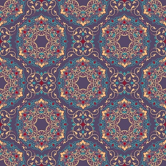 Floral seamless pattern background in arabian style