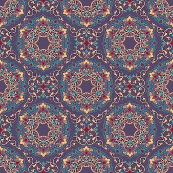 Fondo senza cuciture floreale in stile arabo
