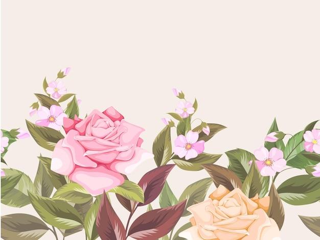 ファッションと装飾のための花のシームレスなパターンの背景