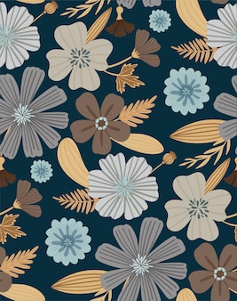 Floral seamless pattern. beautiful herbs and flowers. floral background for fashion prints.