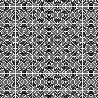 Floral seamless pattern black and white background design