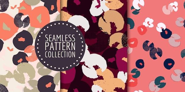 花柄シームレスパターンコレクションデザイン