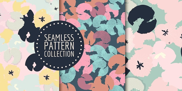 Floral seamless pattern collection