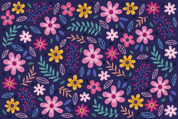 Floral seamless pattern daisy background