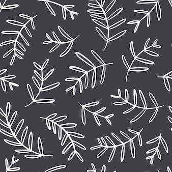 Floral  seamless pattern on a dark background.