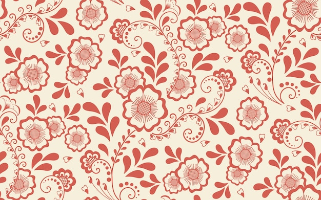Floral seamless pattern element in arabian style. arabesque pattern. eastern ethnic ornament.