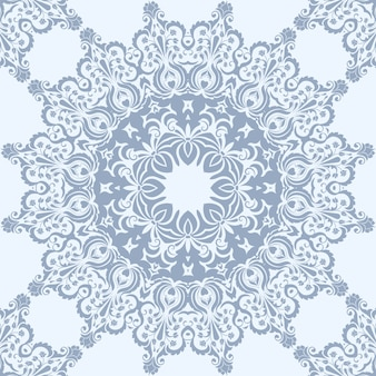 Floral seamless pattern element in arabian style