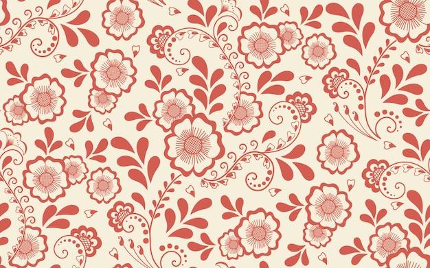 아라비아 스타일에서 꽃 원활한 패턴 요소입니다. 당초 무늬. 동부 민족 장식.