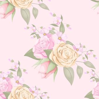 花のシームレスなパターンのファッションデザイン