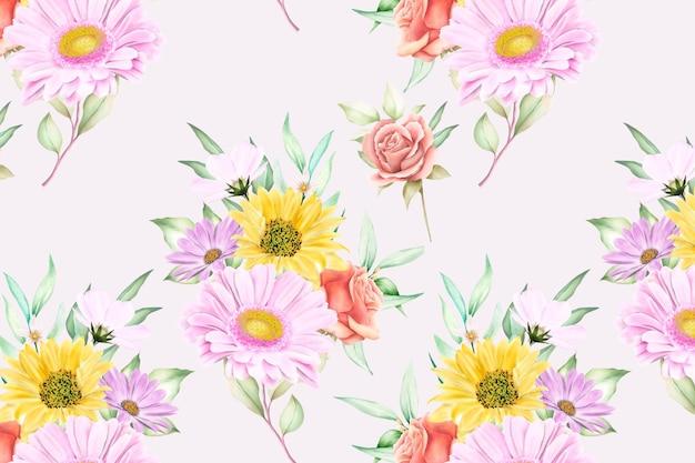 Цветочные бесшовные модели цветочные цветущие