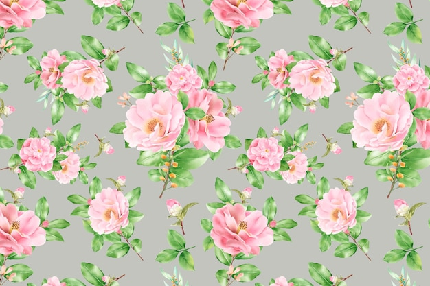Floral seamless pattern floral blooming