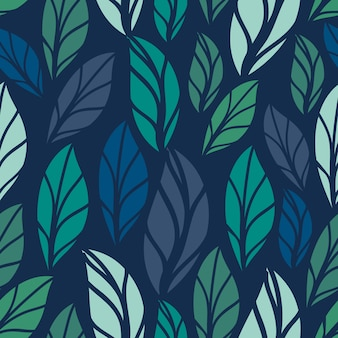Floral seamless pattern. foliage seamless pattern design with pastel color. tropical leaves pattern