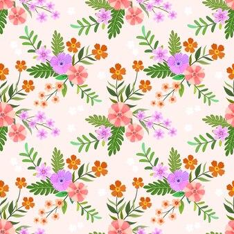 Цветочные бесшовные шаблон для текстильной ткани.