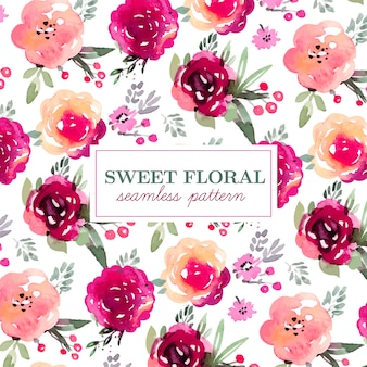 Floral seamless pattern in marsala colors