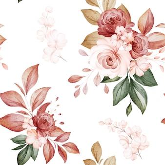 フラワーアレンジメントの花のシームレスなパターン