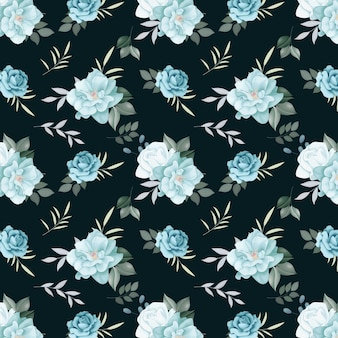 Floral seamless pattern  roses and wild flowers