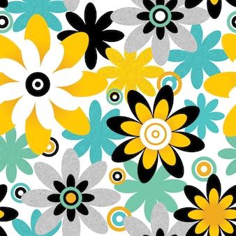Цветочный фон. бесшовный узор можно использовать для обоев, узоров, фона веб-страниц, текстур поверхности.