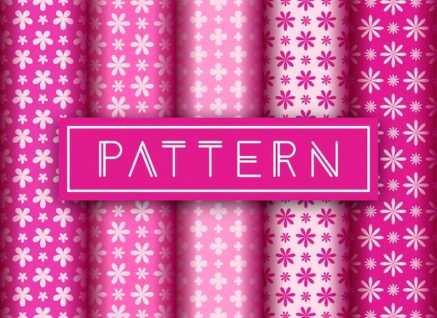 Floral seamless pattern set