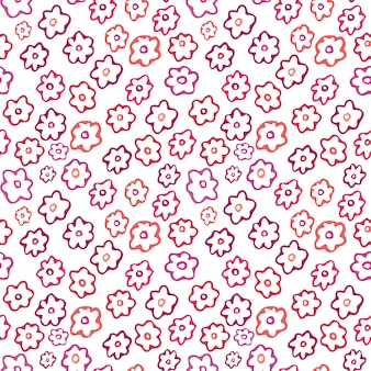 Floral seamless pattern. simple flower textile design.