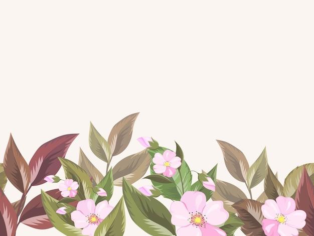 ファッションと壁紙のための花のシームレスなパターンテンプレート