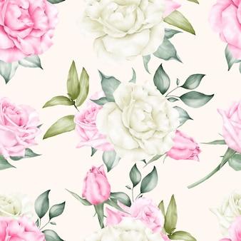 꽃 원활한 패턴 템플릿