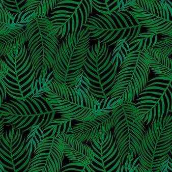 꽃 원활한 패턴 열 대 잎, 패션, 인테리어, 포장 개념. 벡터 일러스트 레이 션