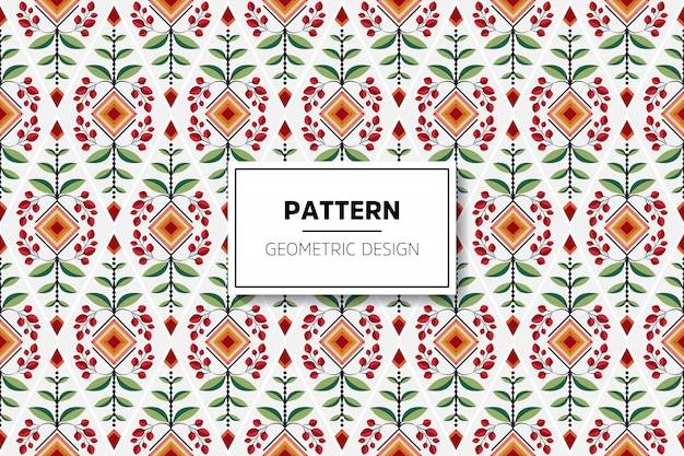 Floral seamless pattern with blooming