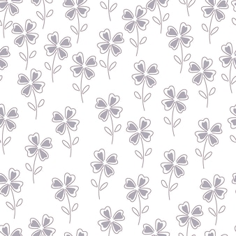 Floral seamless pattern with clovers.