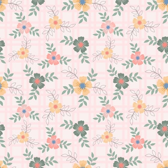 Floral seamless pattern with flowers