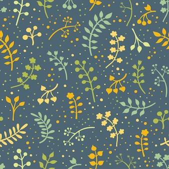 잎과 꽃으로 꽃 원활한 패턴