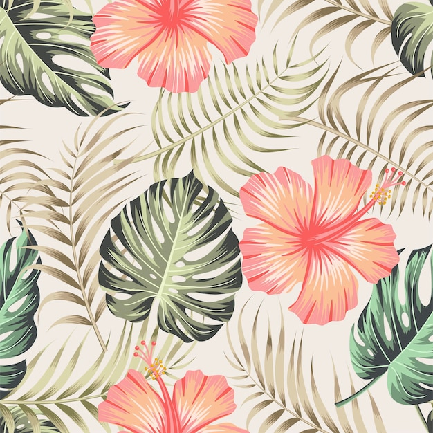 잎과 꽃 완벽 한 패턴입니다.