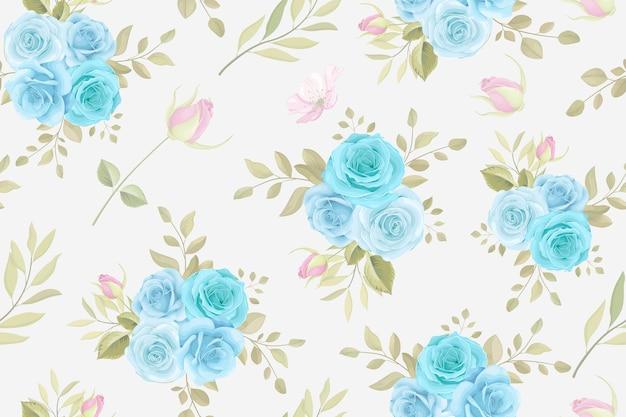 バラの花のデザインと花のシームレスなパターン
