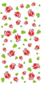 バラと花のシームレスなパターン