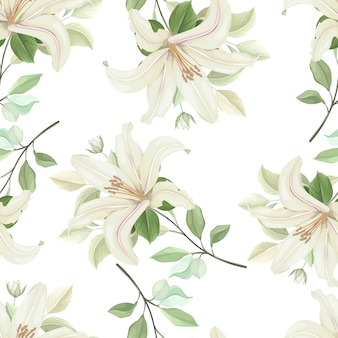 Floral seamless pattern with soft color