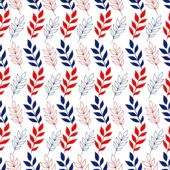 나뭇가지와 꽃 원활한 패턴 벡터 유기 배경