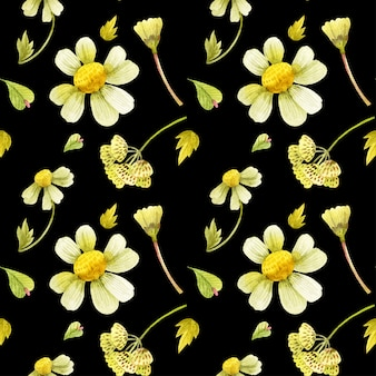 Floral seamless pattern with wild plants