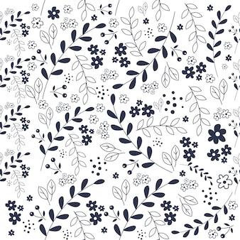 花のシームレスなパターン