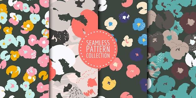 花柄シームレスパターンコレクション