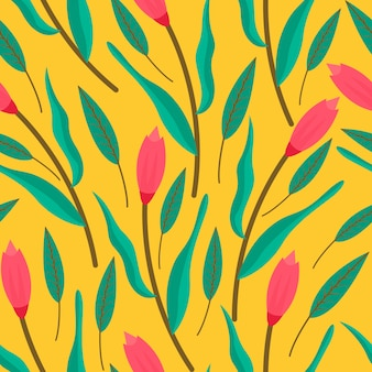 花のシームレスパターン