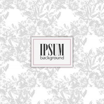 Floral seamless vector pattern with flowers and leaves