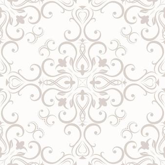 Цветочные бесшовные обои в стиле барокко. может использоваться для фонов и веб-дизайна заливки страниц. векторная иллюстрация