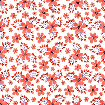 Floral seamless watercolor pattern