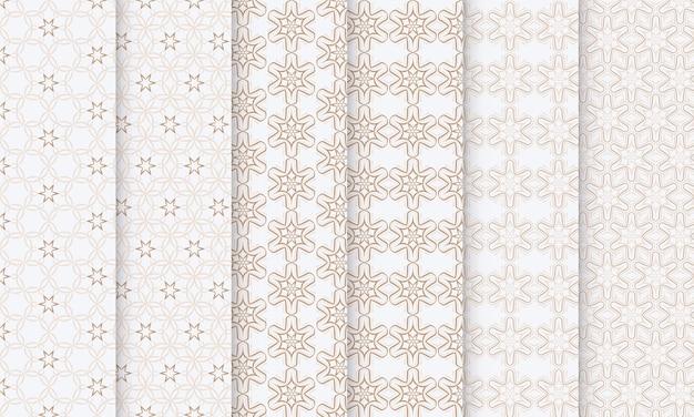 완벽 한 패턴의 꽃 세트