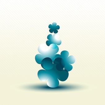 Illustrazione di fiore astratto vettoriale