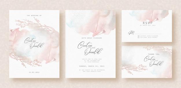 웨딩 카드에 꽃 실루엣 스플래시 추상적 인 배경