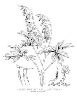 Цветочный эскиз иллюстрации